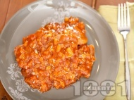 Рецепта Задушен телешки език в доматен сос